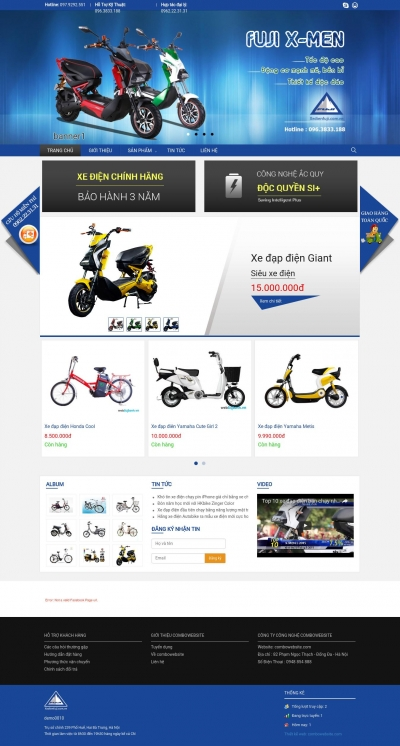 Webshop bán xe đạp điện