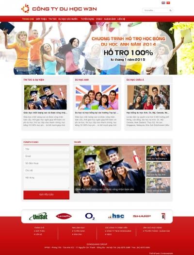 web giới thiệu công ty du học